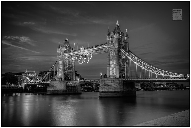The Olympic Rings on Tower Bridge