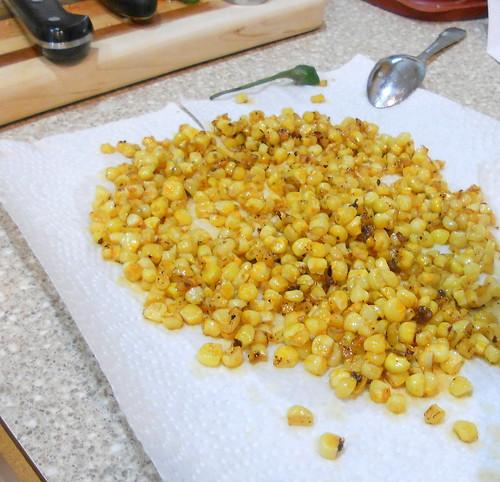 Corn Fried in Chorizo Oil
