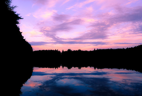 sky lake reflection nature water night clouds finland landscape evening dusk mikkeli silhuette southernsavonia