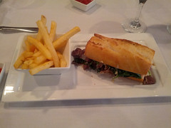 Filet Tip Sandwich, Duval's New World Cafe, Sarasota, FL