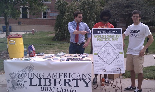 A few members at our table gearing up to meet some freshmen