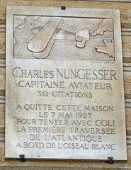 Photo of Charles Nungesser grey plaque