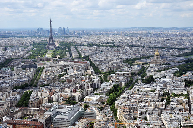 A Parisian view from Montparnasse tower