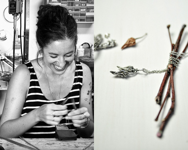 Handcrafted silver chile pepper jewelry by Bethany Cocco Jewelry Design.