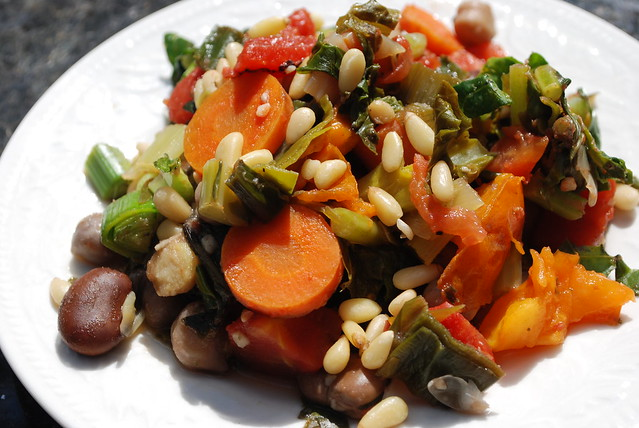 ... Tomatoes, Garlic, Herbs, Garbanzo Beans, Fava Beans, and Pine Nuts