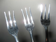 hand(0.0), glass(0.0), fork(1.0), tool(1.0), tableware(1.0), silver(1.0), cutlery(1.0),