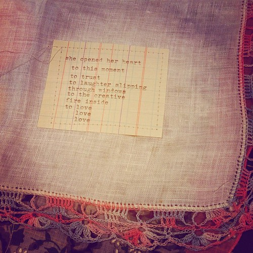 a poem note on a prayer flag