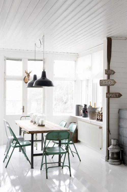 A Scandinavian Home With Vintage Industrial Finds The