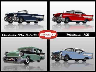 Chevrolet 1957 Bel Air & Nomad - Miniland (1:21)