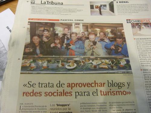 Aparición en La Tribuna de Albacete 20/10/2012