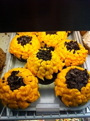 Sunflower cupcakes at Crumbs at Union Station, Washington, DC by Rachel from Cupcakes Take the Cake