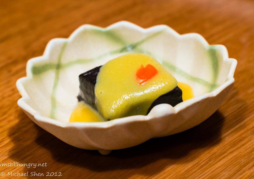Azuma Chifley black sesame tofu