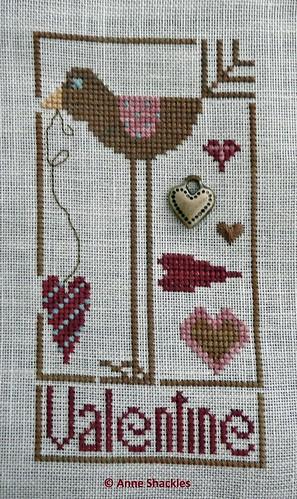 Heart in Hand Needleart-Wee Valentine Bird