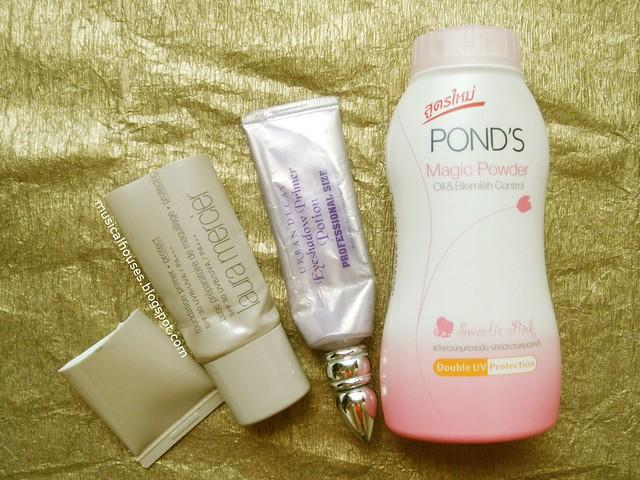 Empties Makeup Primer Eyeshadow Powder Urban Decay Laura Mercier Ponds