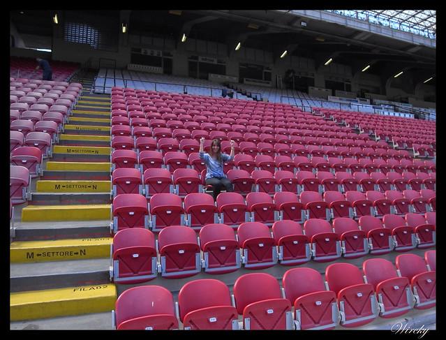 Estadio San Siro Giuseppe Meazza Milán - En la grada del estadio San Siro
