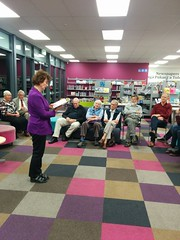 Author Jocelyn Robson speaks at Central Library Peterborough