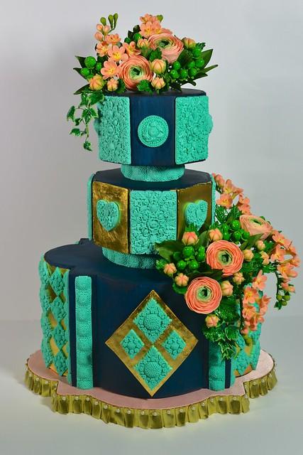 Symphony Floral Cake by marvelousmolds.com