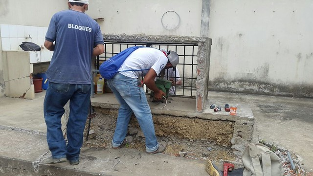 Aguas del Chuno instala bomba para la fundación Jacinta Polo