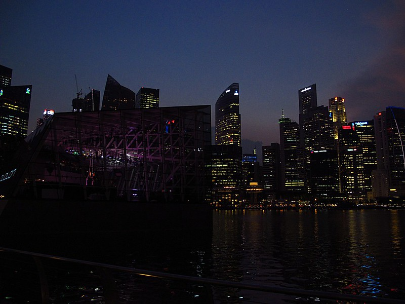 Singapore Business District from Marina Bay Sands
