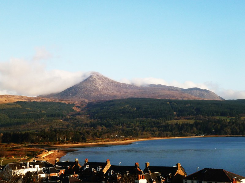 Brodick Bay and Goatfell, Isle of Arran, Scotland