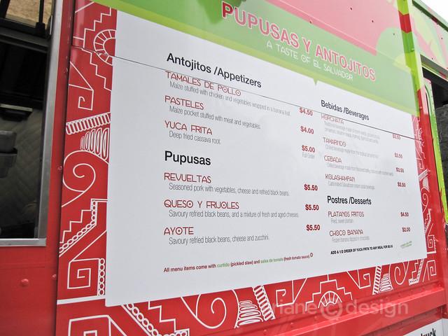 Guanaco Truck menu