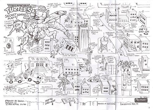 """""""MEGA MUTANTS"""" TEENAGE MUTANT NINJA TURTLES :: NEEDLENOSE / SECRET SEWER MAP #1 (( 1990 )) by tOkKa"""