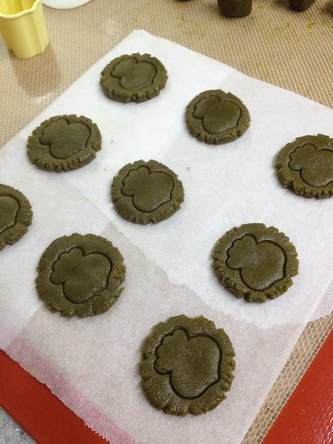 Matcha cookies pre-baked