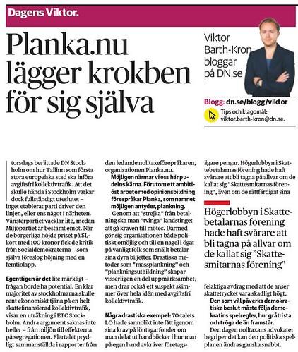 DN:s Viktor Barth-Kron om Planka.nu