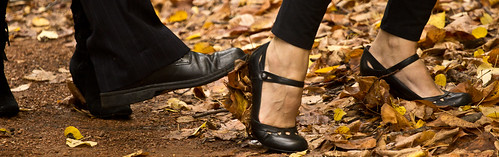 Canberra wedding - high heels in autumn...