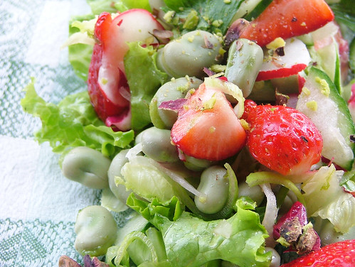Strawberry and Fava bean salad - MLLA #46