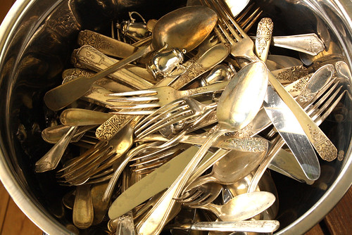 Cleaning Silverware for Pennies