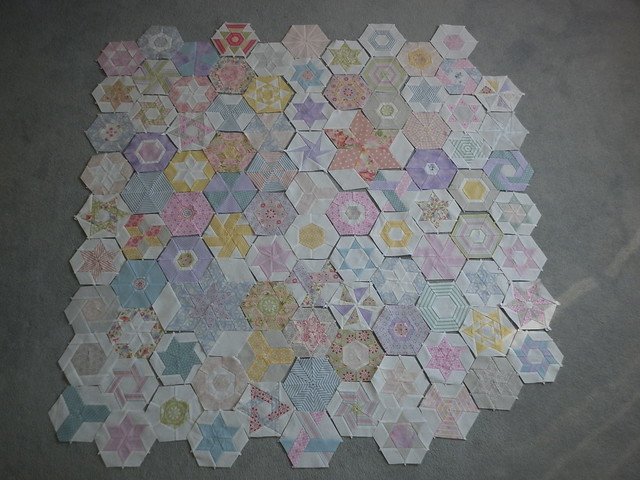 101 pieced hexies