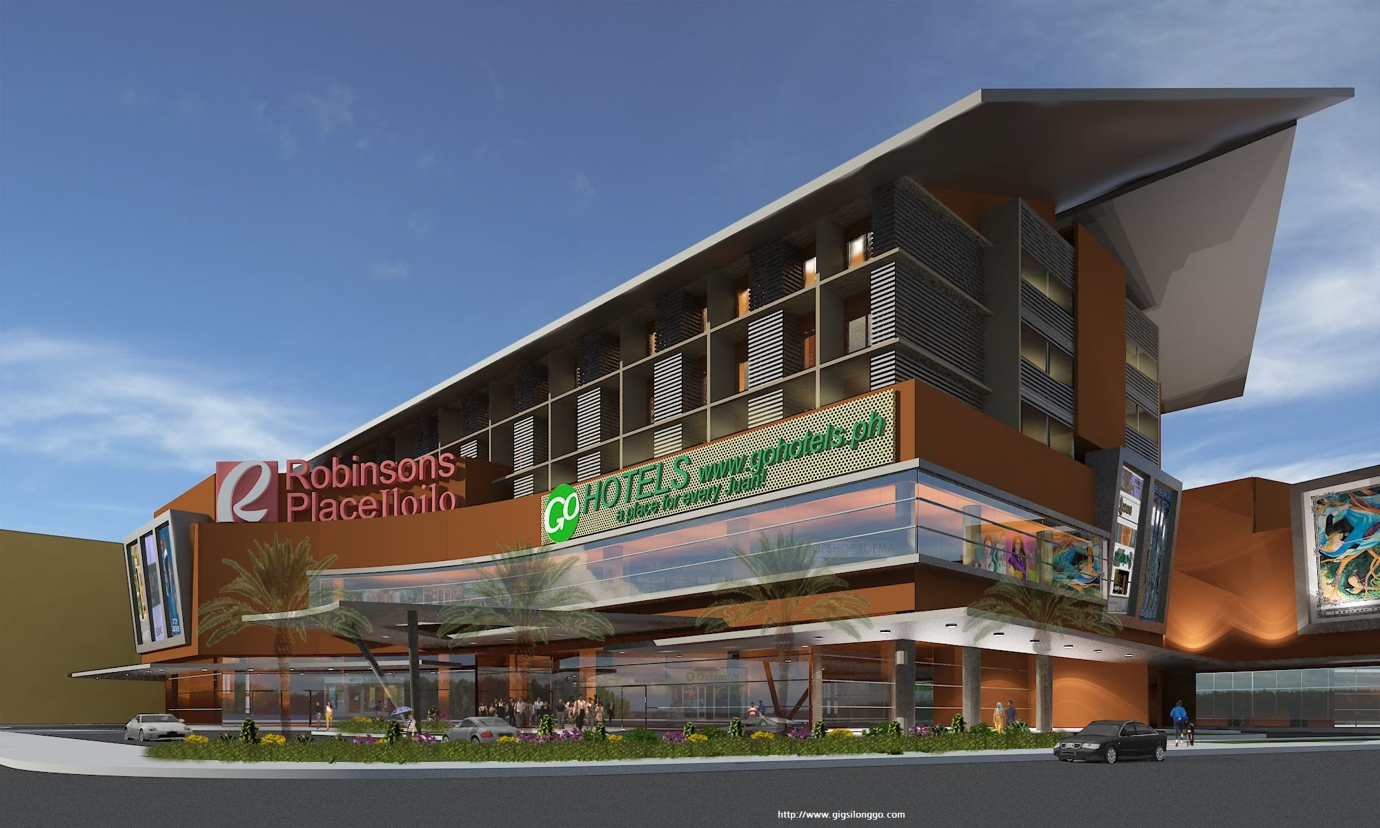 Robinsons Iloilo expansion w/ Go Hotels Official Rendering
