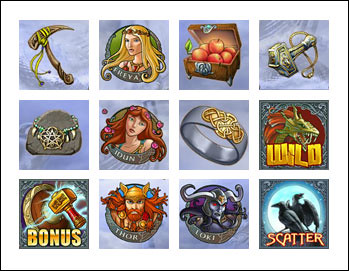 free Hall of Gods slot game symbols