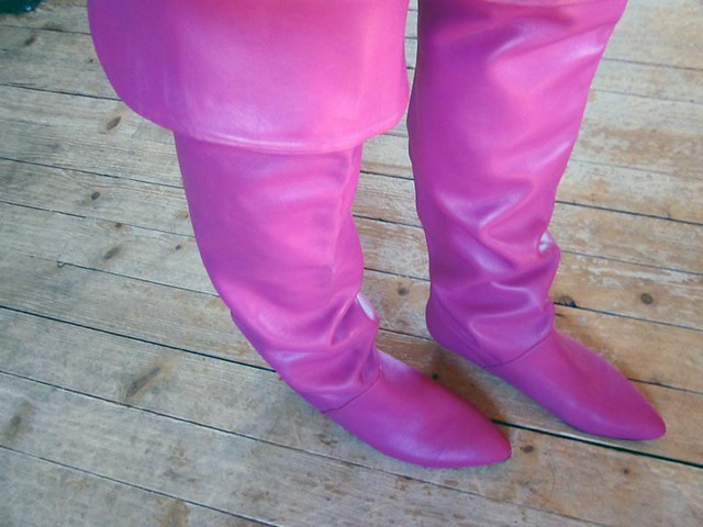 My vintage pink otk boots