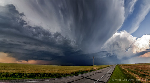 panorama storm oklahoma nature weather clouds landscape vanishingpoint thunder mothership severe mattgranz