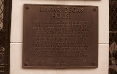 Photo of Edgar Degas bronze plaque