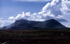 types of volcanic eruptions(0.0), volcano(0.0), loch(0.0), cinder cone(0.0), shield volcano(0.0), stratovolcano(0.0), volcanic landform(0.0), cloud(1.0), mountain(1.0), spoil tip(1.0), plain(1.0), hill(1.0), highland(1.0), ridge(1.0), plateau(1.0), fell(1.0), wilderness(1.0), mountainous landforms(1.0),