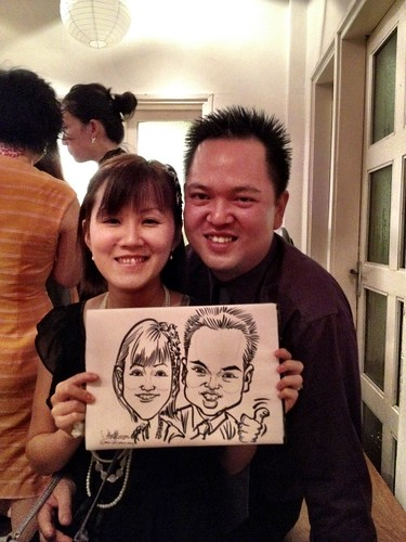 Caricature live sketching for Diageo Singapore Pte Ltd - 8