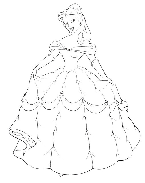 free coloring pages of baby belle