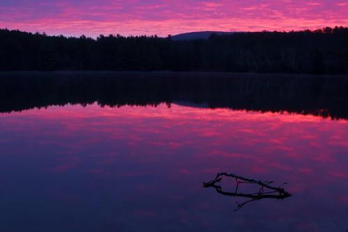 pink lake silhouette rock sunrise canon landscape
