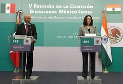 México y la India celebraron la Quinta Reunión de su Comisión Binacional