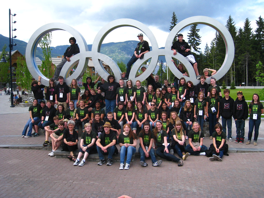 Lawrence Children's Choir in Whistler, British Columbia, location of many of the 2010 Winter Olympic Games events