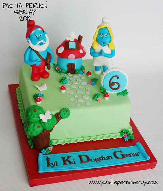 şirinler pastası