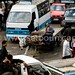Egypt . Cairo : traffic jam and street life in sharia AL QALA street -,Muhammad Ali street , in Islamic Cairo