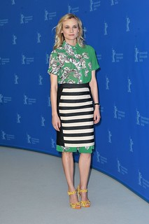 Diane Kruger Clashing Prints Celebrity Style Women's Fashion