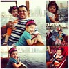 Finally went boat riding at the corniche. Our first boat ride experience was in Doha Corniche last April 20, 2007 (Our first day as husband and wife) Now after 5 years, here we are with our two lovely treasures.