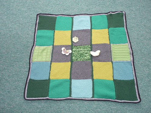 A beautiful job too, thanks to Sally and thanks to everyone that contributed Squares for this Blanket.