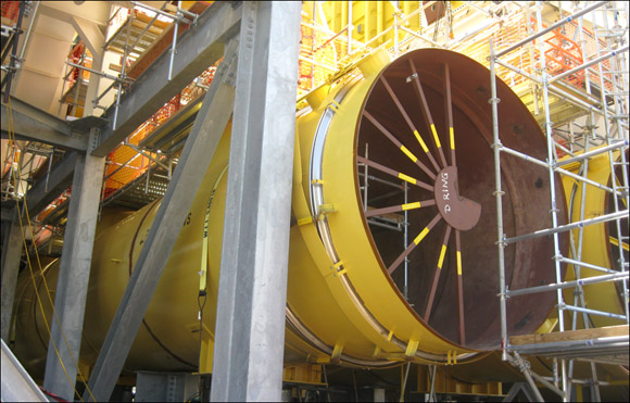 "Engineering, Design and Fabrication of 119"" Expansion Joints, Duct Work and Supports"