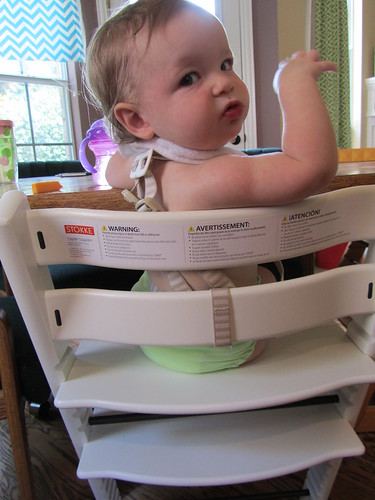 This new Stokke has way more warning stickers on it than my vintage 1980 model.